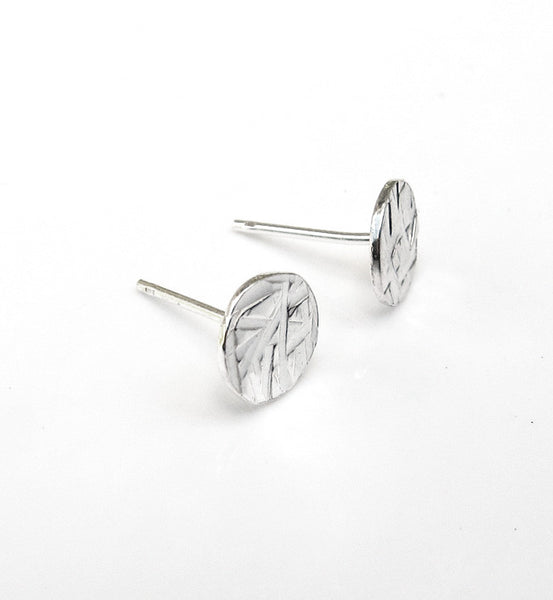 Sterling Silver Hammered Circle Earring
