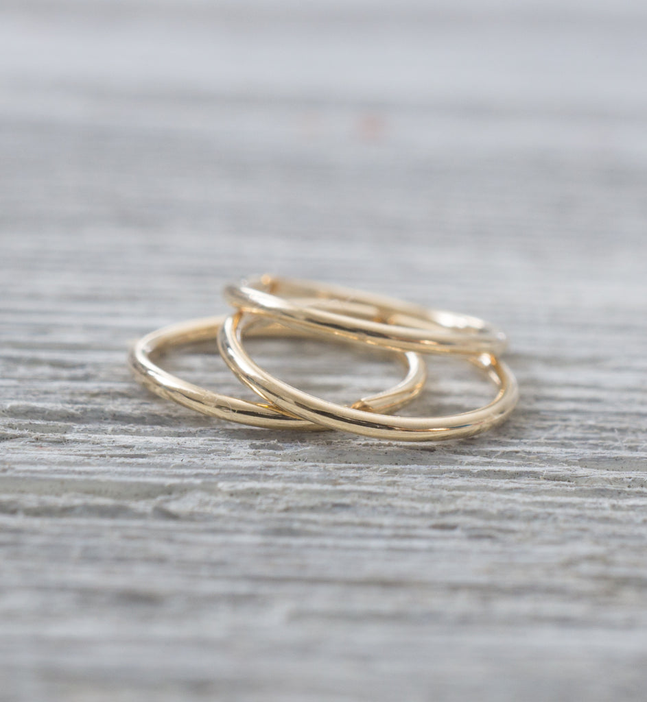 Gold Filled Seamless Hoop Earring 22g