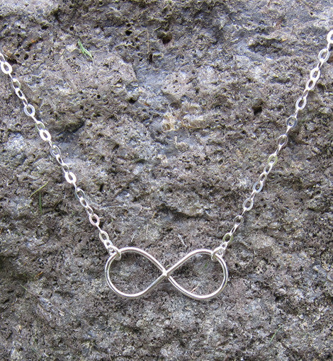 Sterling Silver Infinity Charm Necklace