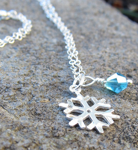 Sterling Silver Winter Snowflake Necklace