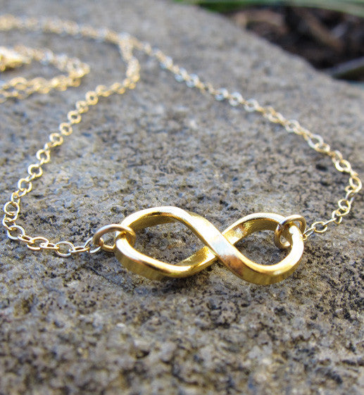 Gold Filled Infinity Charm Necklace