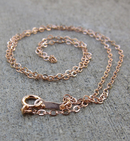 Rose Gold Filled Chain Necklace