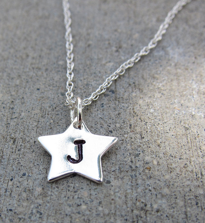 Sterling Silver Personalized Star Necklace