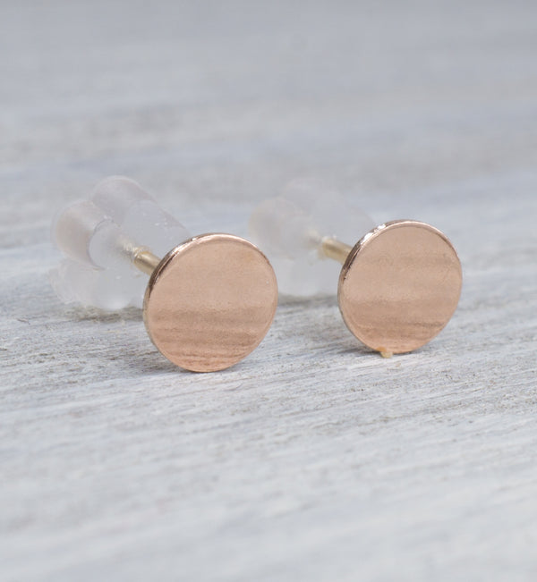Rose Gold Filled Small Circle Earrings