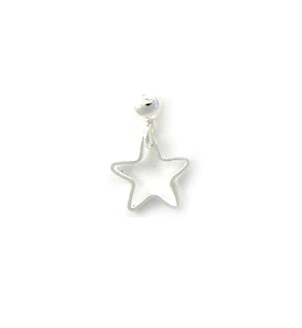 Sterling Silver Open Star Stud
