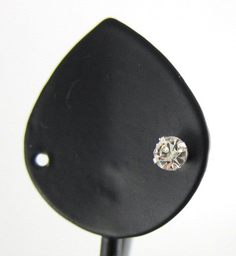 Single Round 4mm Rhinestone Stud