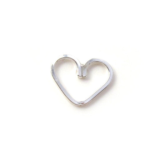 Sterling Silver Heart Threaded Stud