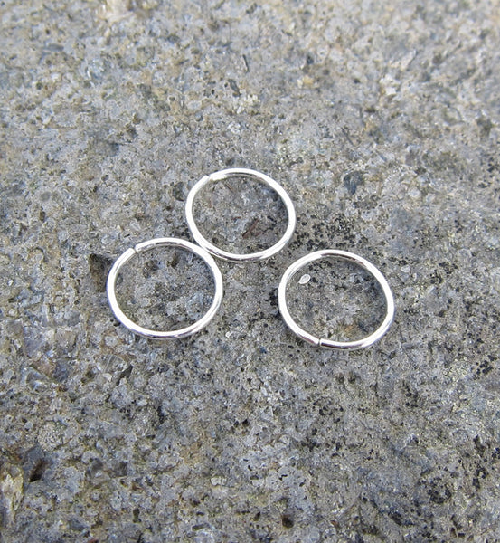 Sterling Silver Seamless Hoop Earring 8mm 22g