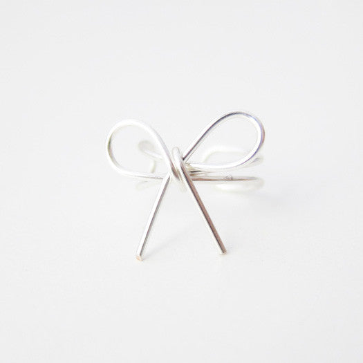 Sterling Silver Bow Knot Ear Cuff