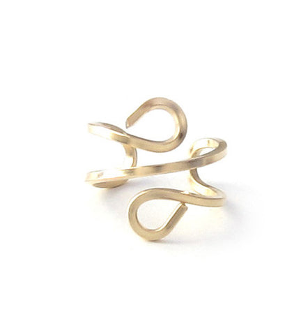 Gold Filled Square Wire Ear Cuff