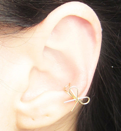 Gold Filled Bow Knot Ear Cuff