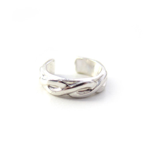 Sterling Silver Infinity Solid Ear Cuff