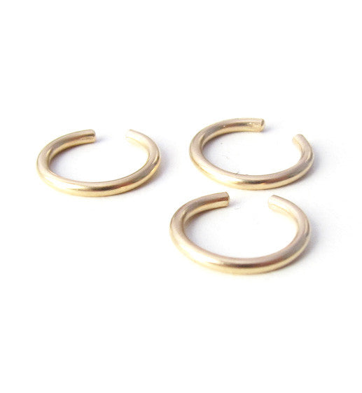 Gold Filled Plain Ring Ear Cuff
