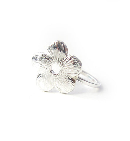 Sterling Silver Flower Ear Cuff