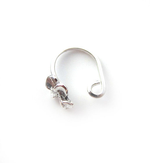 Sterling Silver Hibiscus Flower Ear Cuff