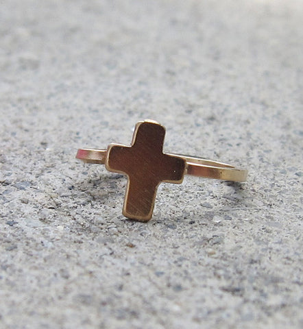 Gold Filled Cross Ear Cuff