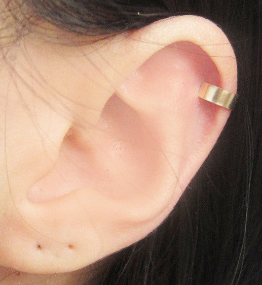 Gold Filled Solid Band Ear Cuff