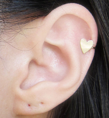 Gold Filled Heart Ear Cuff