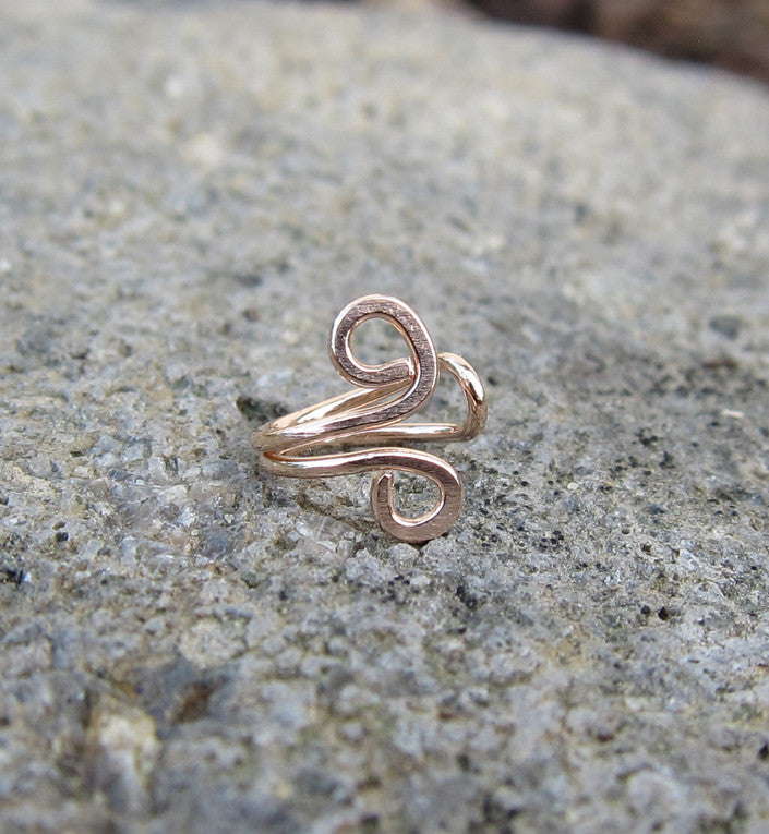 Rose Gold Filled Small Swirl Tragus Ear Cuff