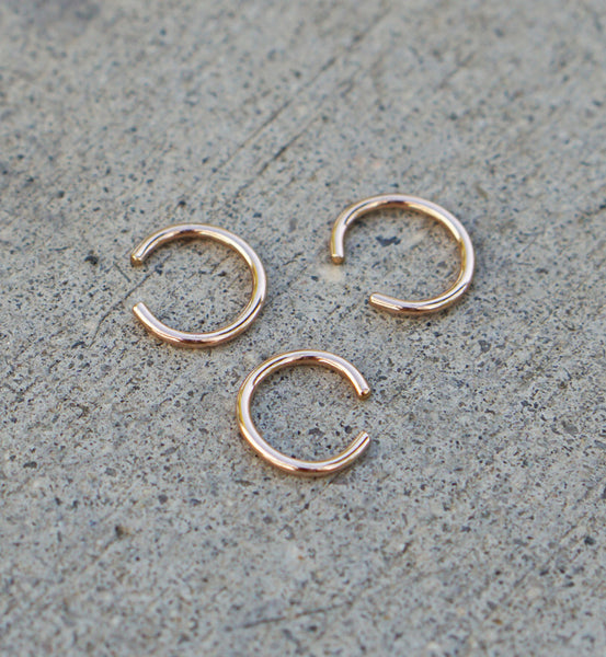 Rose Gold Filled Plain Ring Ear Cuff