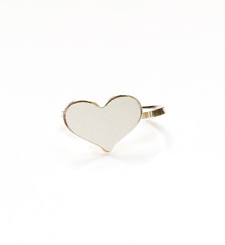Sterling Silver Small Heart Ear Cuff