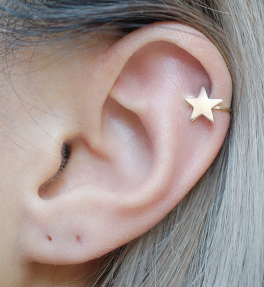 Gold Filled Star Ear Cuff Simplicity Charms