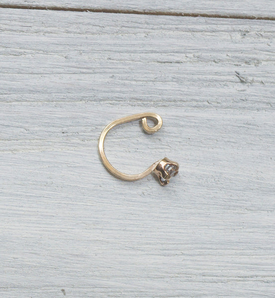 Gold Filled 3mm CZ Ear Cuff
