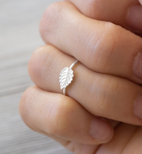 Sterling Silver Leaf Knuckle Ring