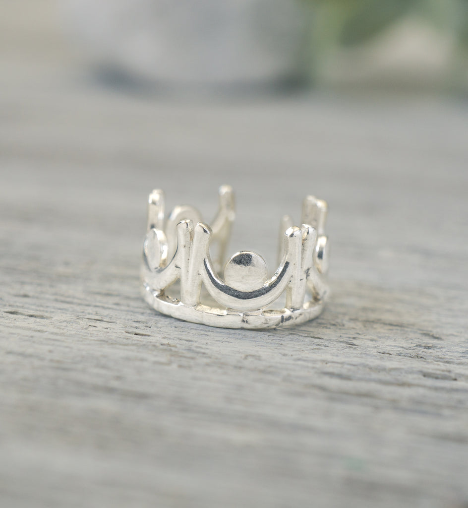 Sterling Silver Royalty Crown Ear Cuff
