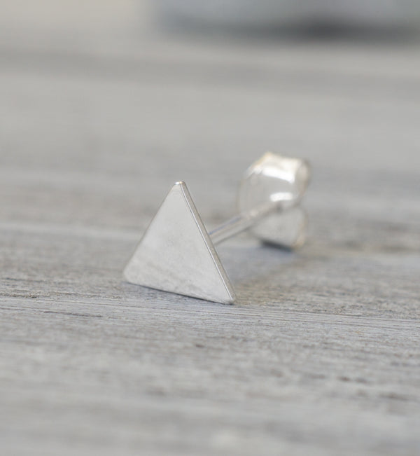 Sterling Silver Small Triangle Stud