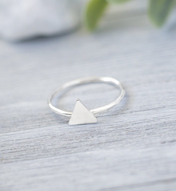 Sterling Silver Triangle Knuckle Ring