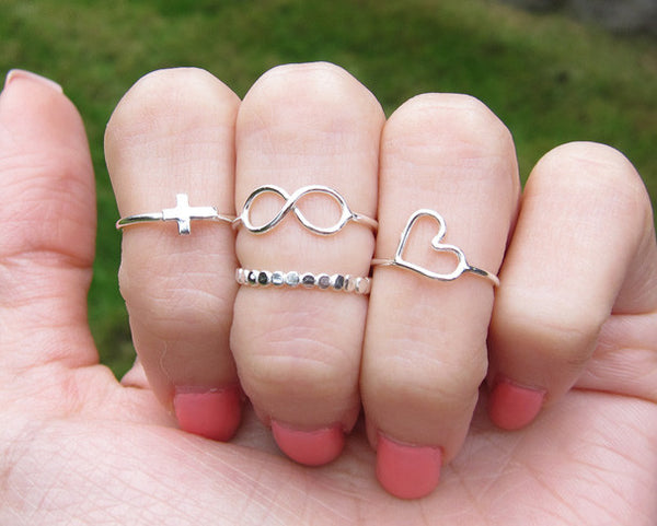 Sterling Silver Infinity Knuckle Ring
