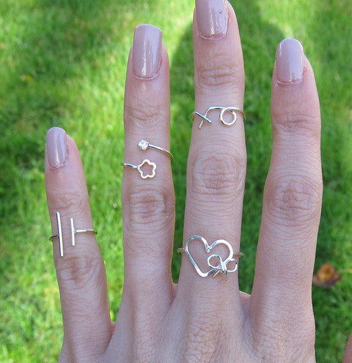 Sterling Silver Equality Knuckle Ring