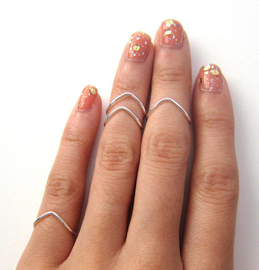 Sterling Silver Chevron Knuckle Ring