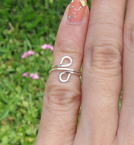 Sterling Silver Loop Pinky Ring