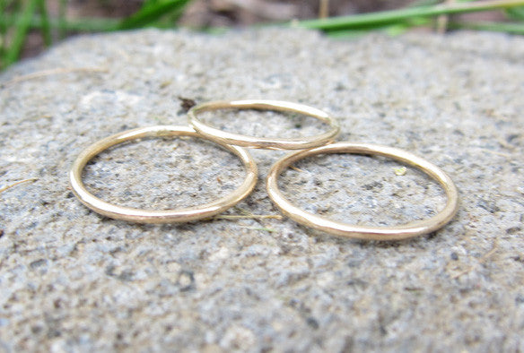 Gold Filled Thin Knuckle Ring