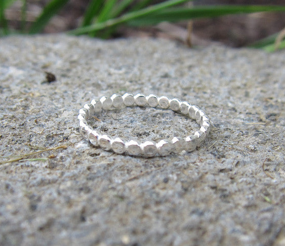 Sterling Silver Reflect Circles Knuckle Ring