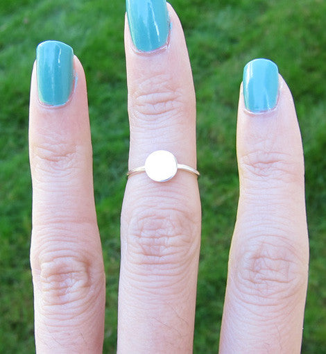 Sterling Silver Solid Circle Knuckle Ring