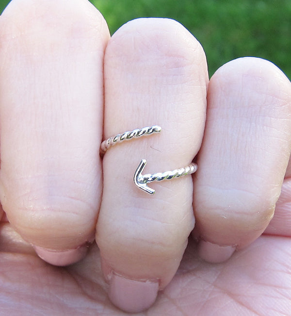 Sterling Silver Arrow Knuckle Ring