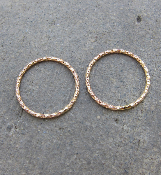 Rose Gold Thin Glittered Textured Knuckle Ring