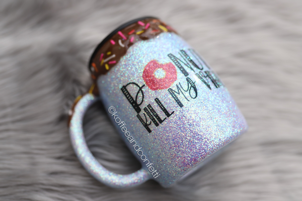 Donut kill my vibe CHOCOLATE FROSTING  - stainless steel mug