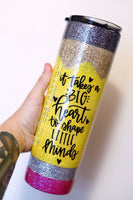 Glitter Pencil   - Skinny stainless steel tumbler with straw