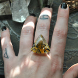 Custom Order!! Dendritic Quartz, Witching Woods Ring OR Necklace, Sterling and Fine Silver
