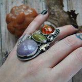 SIZE 6.75 Hallo-uary Feb-O-Ween! Sleepy Hollow Pumpkin Patch ring!