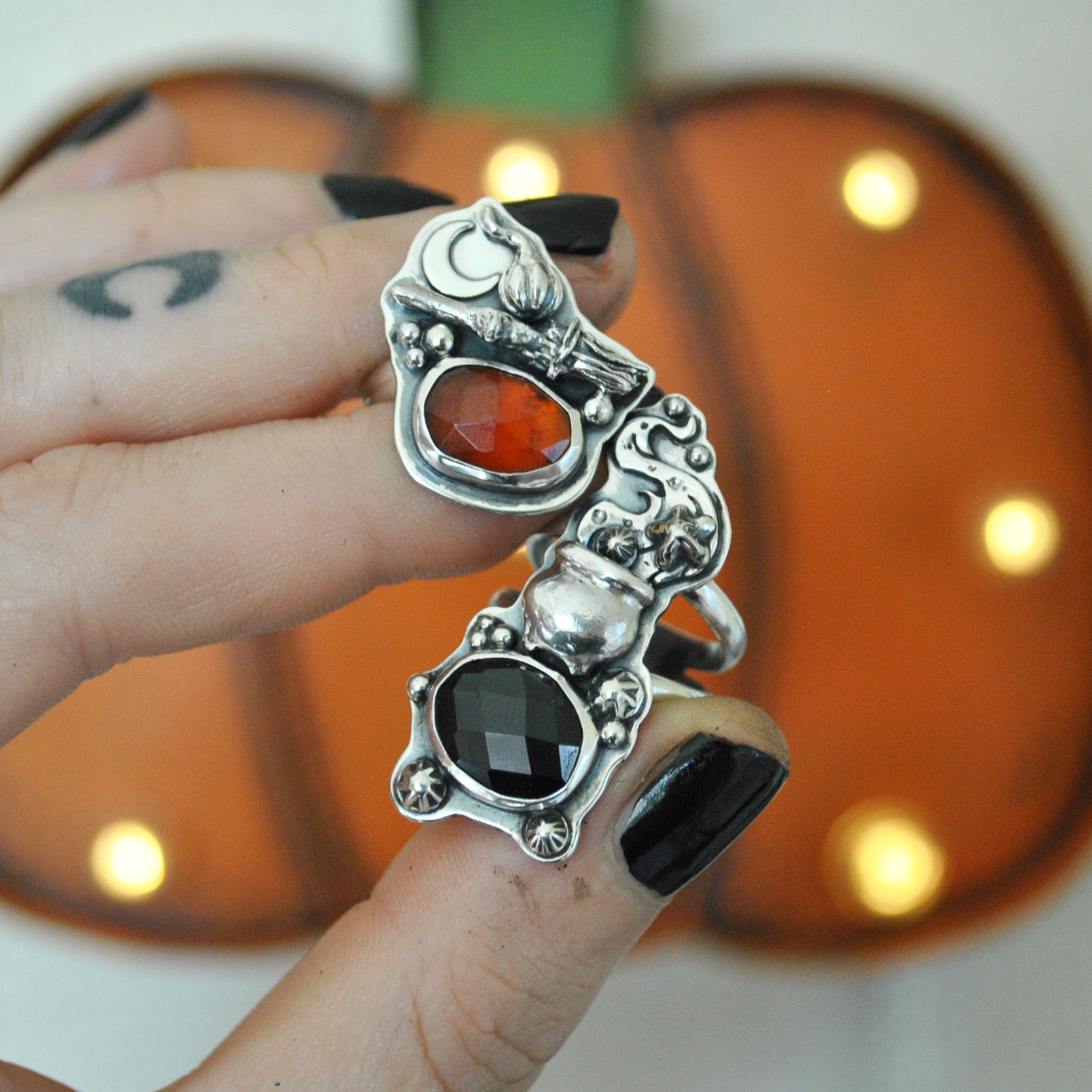 Size 6, Moon&Star sets, HALLOWEEN EDITION! Spinel and Garnet