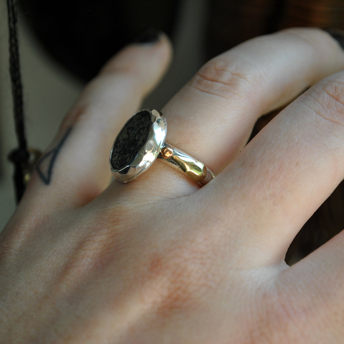 Size 6.25, Authentic Anicent Roman Coin Ring, Sterling, Fine Silver, Brass