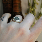 Size 6.75, Authentic Ancient Roman Coin Ring, Sterling and Fine Silver