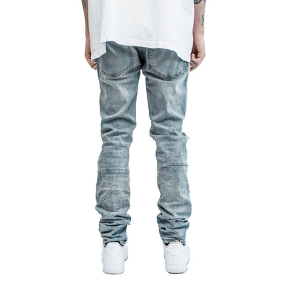 Shotgun Blast Denim in Light Indigo | MINTCREW