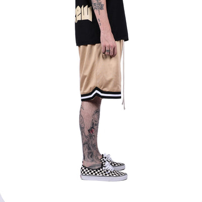 Mesh Basketball Shorts in Tan | MINTCREW