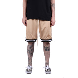 MintCrew Mesh Basketball Shorts (TAN)